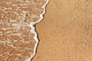 Beach Sand Sea Shore with wave and white foamy summer background photo