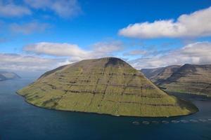 The impressive landscape of Faroe Islands on a beautiful day in summer photo