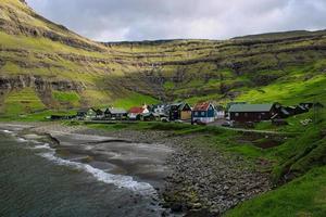 Around the village of Tjornuvik on Faroe Islands photo