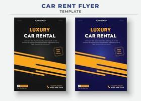 plantillas de folletos de alquiler de automóviles, folleto de venta de automóviles vector