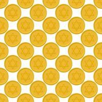 Illustration on theme big colored pattern coin vector