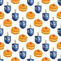 Illustration on theme big colored pattern Hanukkah vector