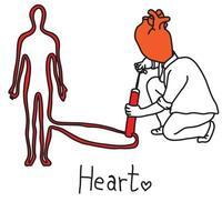 metaphor main function of human heart vector
