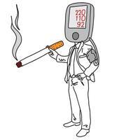 metaphor cause of high blood pressure or hypertension vector