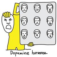 metaphor function of Dopamine hormone is vector