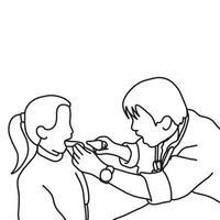 Girl open mouth ready for dentist examination vector