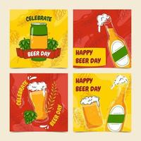 Happy Beer Day Card Collection vector