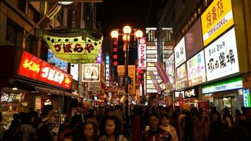 Time lapse Namba Market street in Osaka City, Japan video