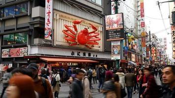 Time lapse namba market street dans la ville d'Osaka, Japon video