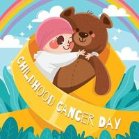Childhood Cancer Day Concept vector