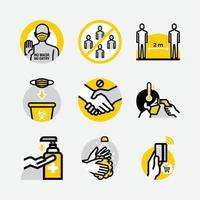 New Normal Protocol Public Sign Icons vector