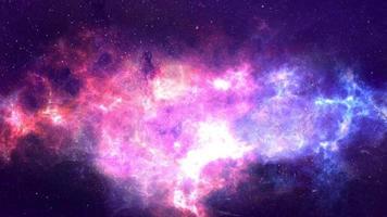 nachtelijke hemel ruimte achtergrond met nevel en sterren video