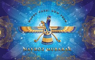 Happy Parsi Navroz Mubarak Concept vector