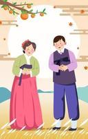 Happy Chuseok Korean Thanksgiving Day vector