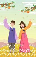 Happy Chuseok Concept vector