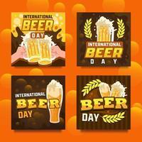 International Beer Day Fun Card vector