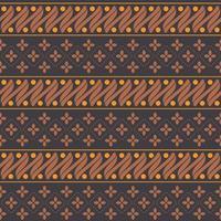 Traditional Batik Parang Seamless Pattern vector