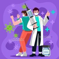 Take Vaccine Against Virus vector