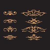 Dirty ornaments design vector