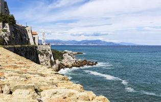 French Antibes coast landscape photo