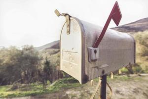 American Style metal mail Box photo