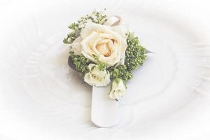 ramo de rosas y flores utilizadas para una boda foto