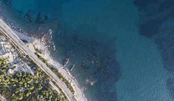 vista superior del mar mediterráneo foto