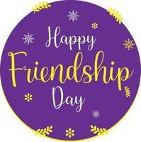 feliz dia de la amistad vector