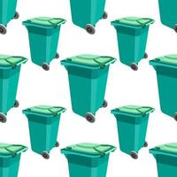 trash can seamless pattern colored ecology vector