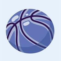 Hand-drawn Basketball isolated on a white background vector