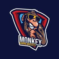Monkey Mascots Gaming Logo vector