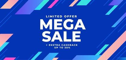 Abstract colorful mega sale background vector
