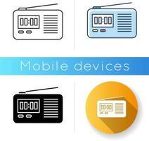 Wireless radio set icon vector
