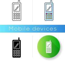 Portable cell phone icon vector