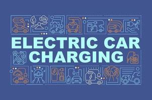EV charging station word concepts banner. vector