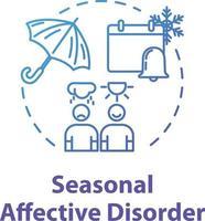 Seasonal affective disorder concept icon vector