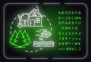 Landscape planning neon light concept icon vector