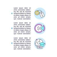 Paid and unpaid internship concept line icons with text vector