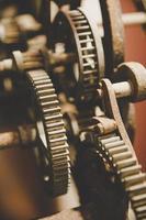 Metal gears of a clock photo