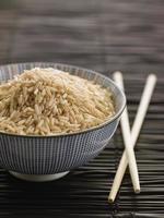 arroz en un tazón foto