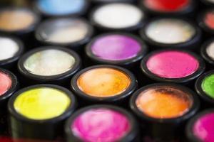 Multicolor make up palette photo