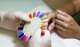 carta de colores de uñas foto