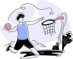 Basketball flat illustration concept Games Sport vector