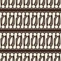 Hand Drawn Batik Parang Seamless Pattern vector
