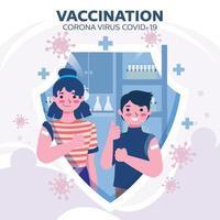 Coronavirus Vaccine to a Patient vector