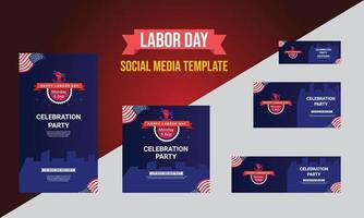 Happy Labor day banner background design. Happy Labor Day Holiday vector