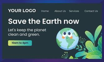 Tree with globe.Ecology, to save the planet. vector