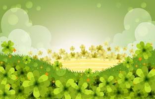 Clover Field Background vector