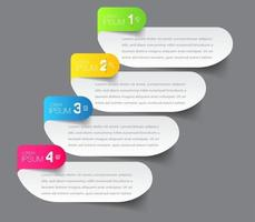 modern infographic text box template, infographics banner vector