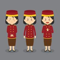 Bellgirl Character with Various Expression vector